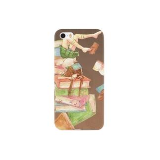 本と少女 Smartphone cases