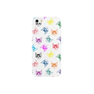 眼光きらり(白) Smartphone cases