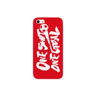One Shot One Goal(横/赤) Smartphone cases