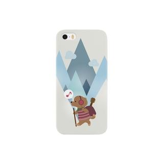 登山犬(ノリノリ) Smartphone cases