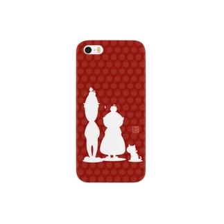 リンゴン一家(シルエット) Smartphone cases