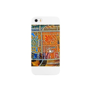旅先の花タイル Smartphone cases