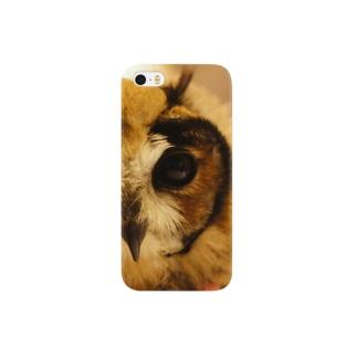 ウサギフクロウのヒナ Smartphone cases
