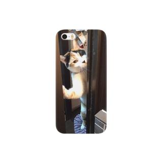出待ちネコ Smartphone cases