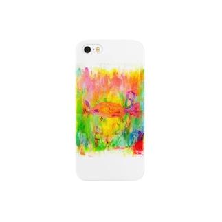 極彩色のさかな スマートフォンケース