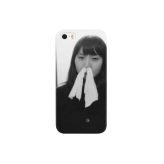 鼻からティッシュ Smartphone cases