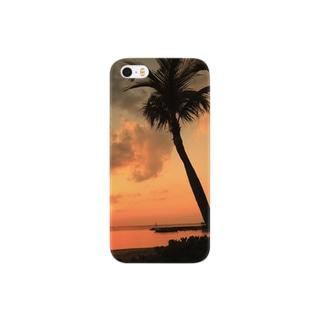 沖縄の夕暮れ Smartphone cases
