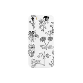 mono flowers スマートフォンケース