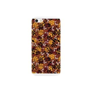 秋のパターン装飾 Smartphone cases