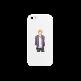 GENIUSオリジナルグッズショップの三橋拓海(微笑み) Smartphone cases