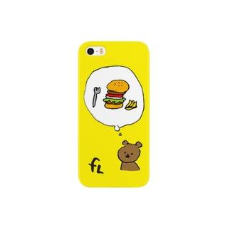 今から15分後に食べるバーガー Smartphone cases