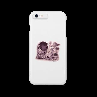 葉守 碧のきのこの森の出会い Smartphone cases