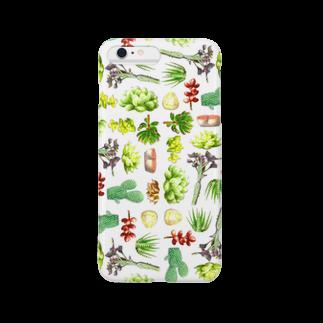 chicu.の水彩画で描いた多肉植物 Smartphone cases
