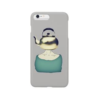 薬缶クン、3Dになる (灰) Smartphone cases