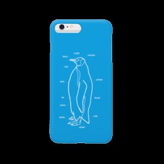 burnworks designのペンギン(青) スマートフォンケース