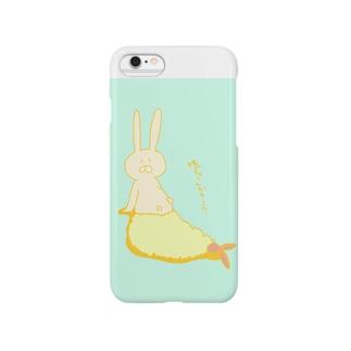 揚げられちゃったウサギ Smartphone cases