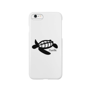Turtle-Black スマートフォンケース
