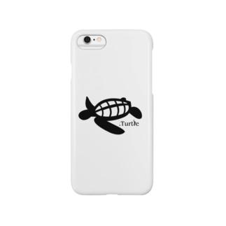 Turtle-Black Smartphone cases