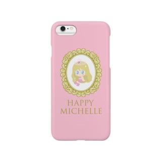 Happyミシェル-macaroon pink Smartphone Case