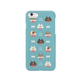 ネコモドキたち(スカイブルー) Smartphone cases