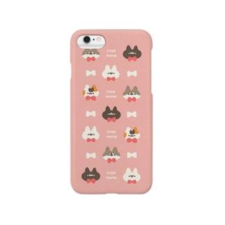 ネコモドキたち(ミルキーピンク) Smartphone cases