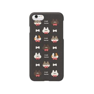 ネコモドキたち(パンサーブラック) Smartphone cases