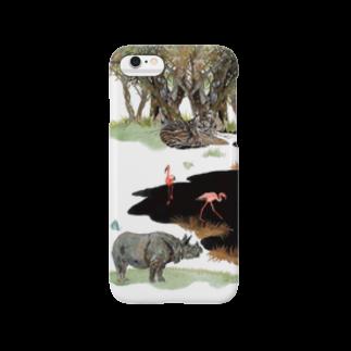 yukimimannoのWhite Canvas Smartphone cases