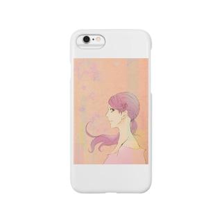 花・ピンク・女の子 Smartphone cases