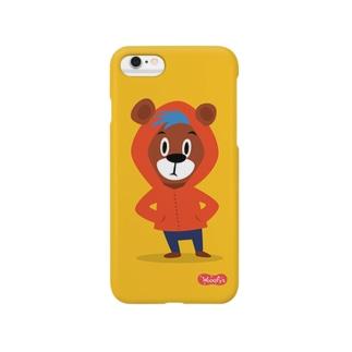 フードくま Smartphone cases