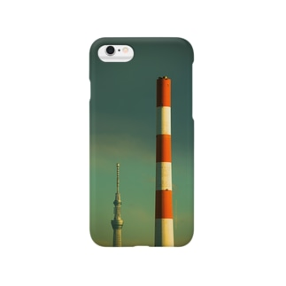 赤白煙突と634 Smartphone cases