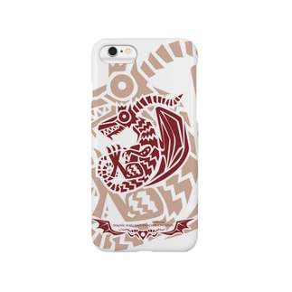 ねんどらんどSUZURI店のドラゴルーン魔生物研究所の紋章(紅) Smartphone cases