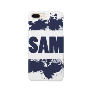 SAMロゴ(紺色) Smartphone cases