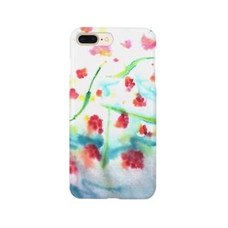 にじみ_お花 Smartphone cases