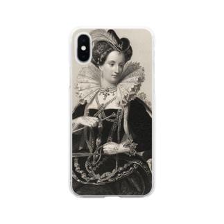 英国女王エリザベスⅠ世 Soft clear smartphone cases