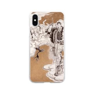 yukimimannoのほとけさま Soft clear smartphone cases