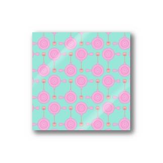 急須と湯呑み(ピンク) Stickers