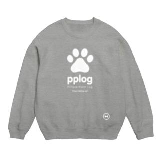 pplog(白抜き) スウェット