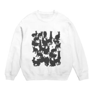影の兎のTシャツ  スウェット