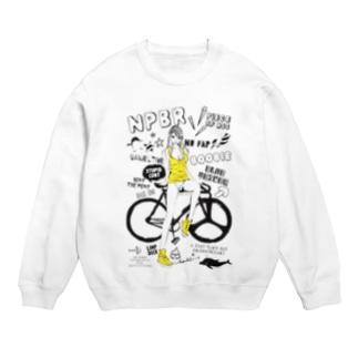 NPBR 自転車女子 ガーリーイラスト Sweats