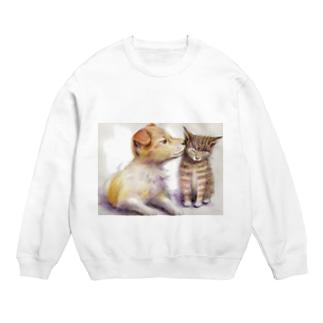 子犬と子猫 スウェット