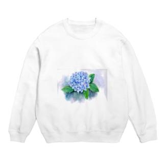 紫陽花 スウェット