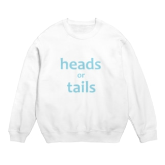 heads or tails・baby blue Sweats