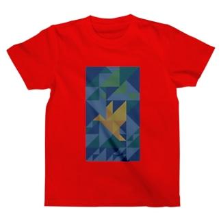 ORIGAMI-BIRD-DKG Tシャツ
