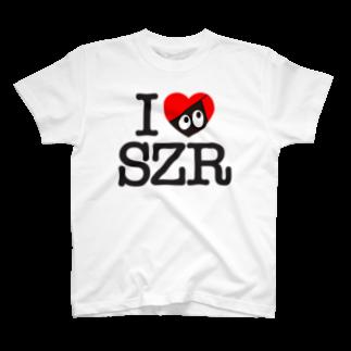 忍者スリスリくんのI LOVE SZR. Tシャツ