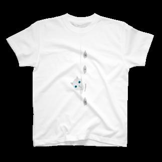 のぞき猫 Tシャツ