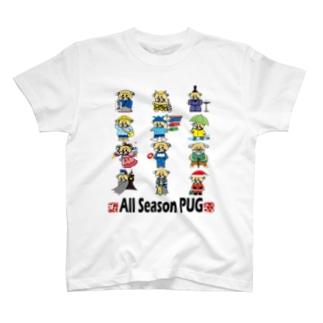 1年中パグ Tシャツ