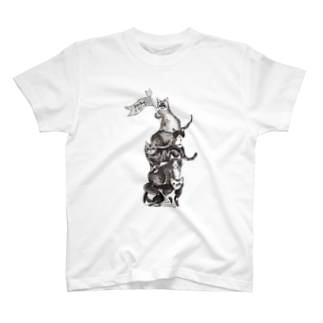 タコベルの猫サーカス 白Tシャツ