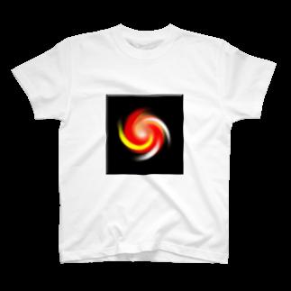 宇宙の贈りもの★YasueUenishiの電磁波カット/宇宙効果SpaceArt「うたかた夢宇宙」 Tシャツ
