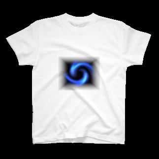 宇宙の贈りもの★YasueUenishiの電磁波カット/宇宙効果SpaceArt「瞑想エンブレム」Tシャツ