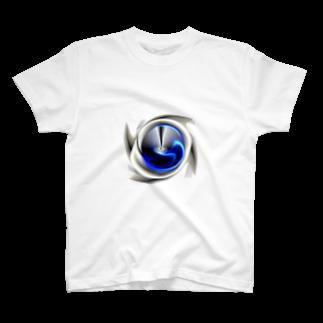 宇宙の贈りもの★YasueUenishiの電磁波カット/宇宙効果SpaceArt「最果て銀河」 Tシャツ